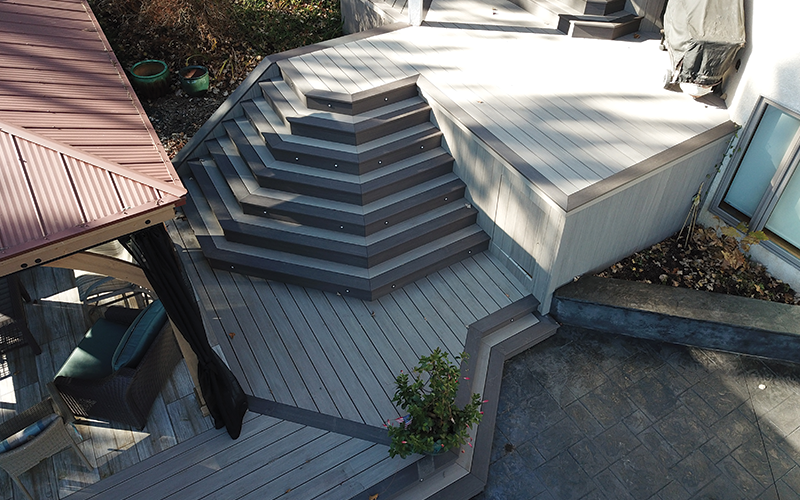 unique deck stairs